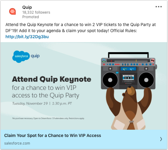 Heres a event ad that you can use for remarketing linkedin ads before the event