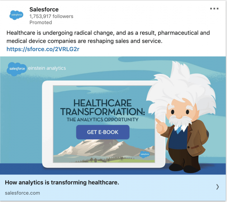 Salesforce Linkedin ad