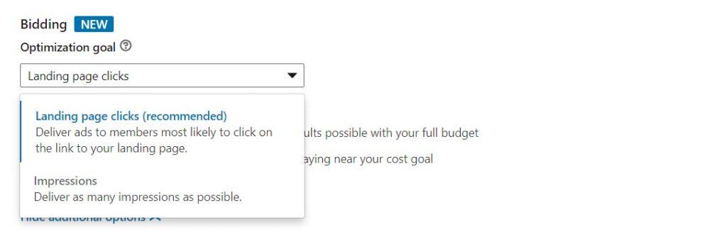 Optimization Goals