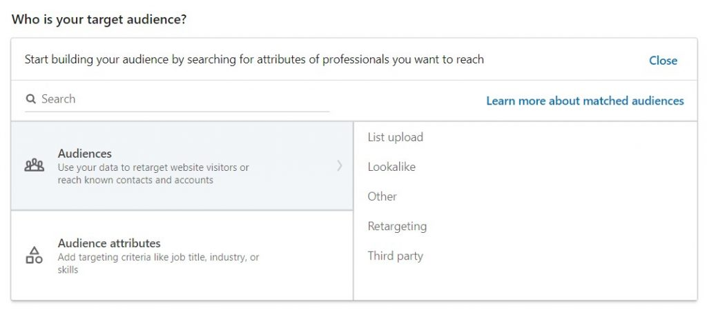 Linkedin ads not getting impressions - Audiences