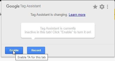 google tag assistant access