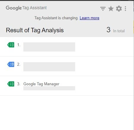 google tag assistant tags